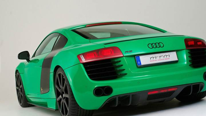Mtm Audi R8 Green Color Back Side Pose